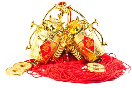 chinese new year ornament on the white background