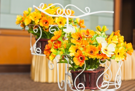 Artificial flowers pots Stock Photo - 17120207