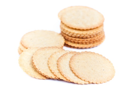 thin biscuit isolated on a white background Stock Photo - 17746506