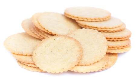 thin biscuit isolated on a white background