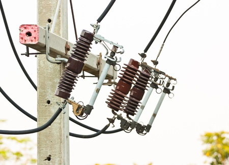 electrical power equipment, High voltage fuse Stock Photo