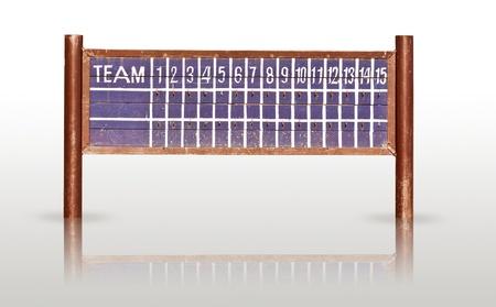retro scoreboard isolated Stock Photo - 18413200
