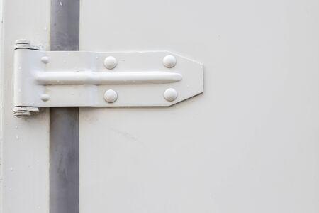 Ancienne charnière blanche de camion Banque d'images - 62157524