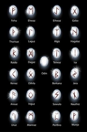 Glass runes Vector