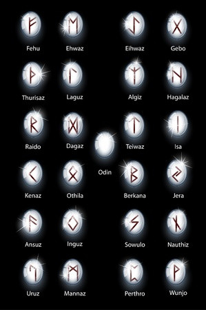 norse: Glass runes Illustration