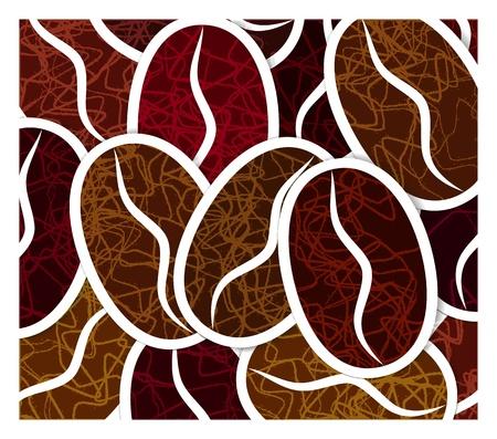 Grains of coffee Ilustracja