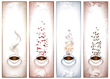 banners with coffee cups Vector