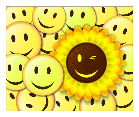 Smiling background  Vector
