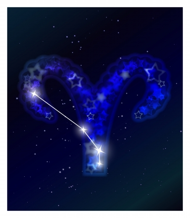 constellation: Horoscope and zodiac constellation on the starry sky
