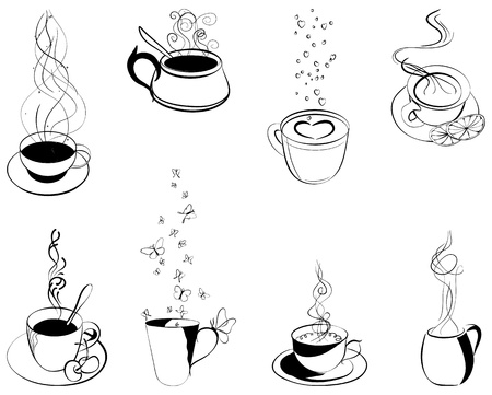 Coffee  Elements for design  Vector illustration