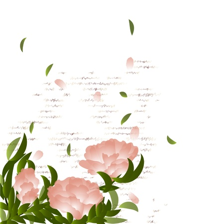 Flowering branch on grunge background. Summer background
