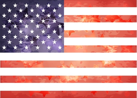 American flag in the aged style with the stars