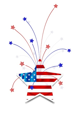 Independence Day card or background  July 4 Illustration