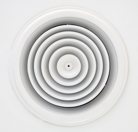 installed: Air duct circular shapes are designed to be installed on the ceiling look beautifully organized