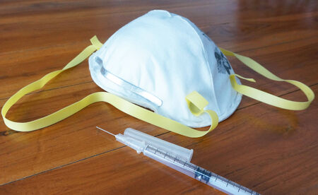 respiratory tract:  N95 mask prevent respiratory tract infection, cover nose to mouth.                               Stock Photo