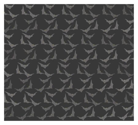 fon: background halloween with bats and gray fon Illustration