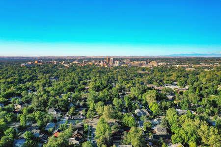 Bird's Eye View of downtown Boise, Idaho