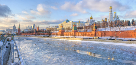 Moscow, Russia, December 2014. Kremlin-residence of the President of the Russian Federation.