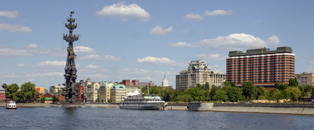 gorbachev: Russia, Moscow, a monument to Peter the Great on the Moscow River Editorial