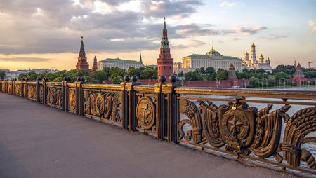 gorbachev: Russia, Moscow, View of the Kremlin from the Great Stone Bridge