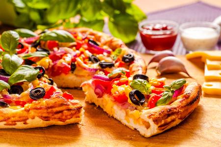 Pizza casera Foto de archivo