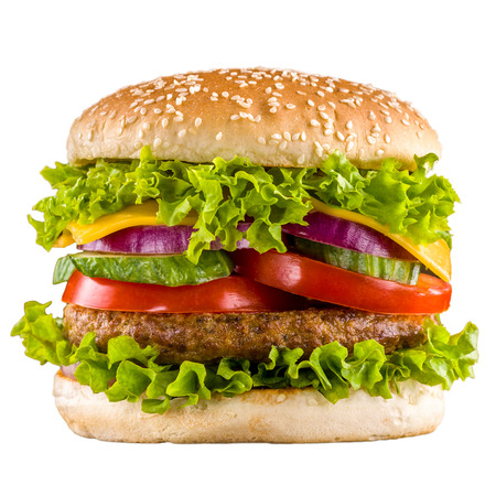 Burger isolated Stock Photo