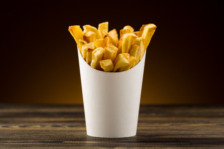 French fries packaging paper photo