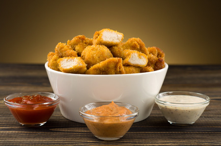 Chicken nuggets on the table photo