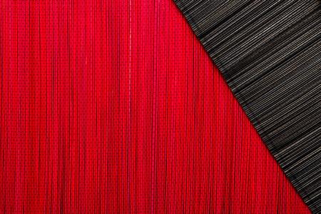 japones bambu: Textura estera de bamb� rojo y negro o fondo