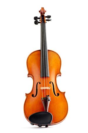 Old violin on white background Zdjęcie Seryjne
