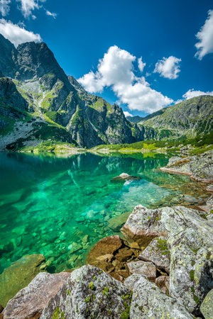 Black lake under Rysy peak, Tatra Mountains, Poland