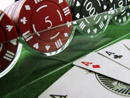 Poker Hand & Chips photo