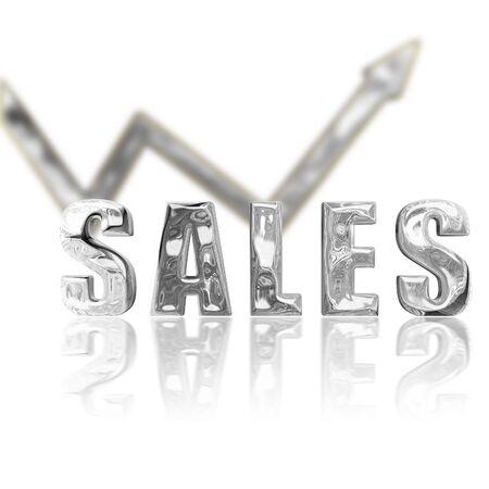 incline: Platinum rendered sales lgraphic depicting success & improvement