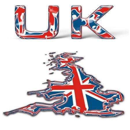 Glassy UK text Stock Photo - 526490