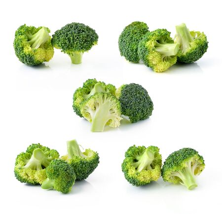 Broccoli vegetable isolated on white background photo