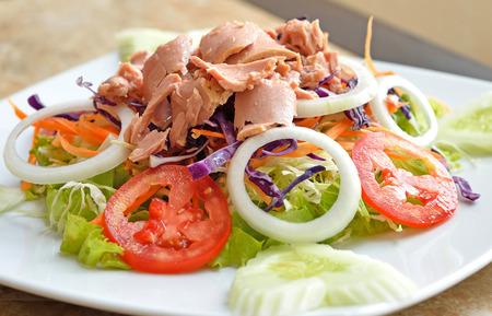 Tuna and vegetable salad photo