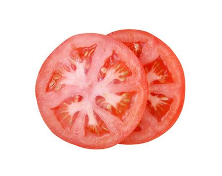 Tomato slice isolated on white background Stock Photo - 39156026