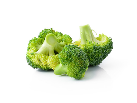 broccoli salad: Broccoli isolated on white background