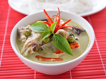 Green curry chicken , Thai cuisine photo
