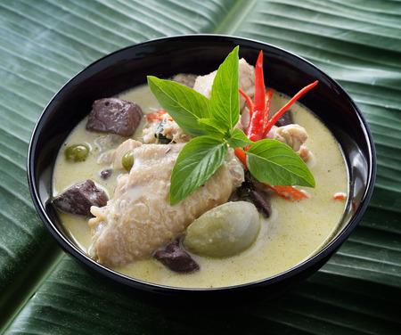 Thai green chicken curry photo