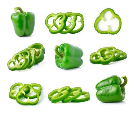 bells: green pepper isolated on white