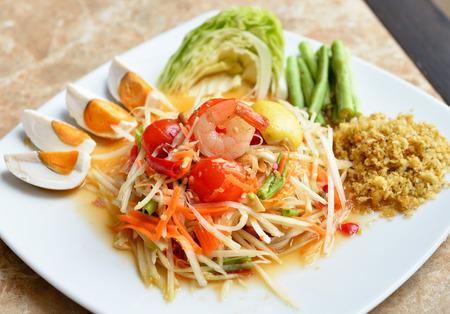 Papaya Salad ,Som Tum Thai Food photo