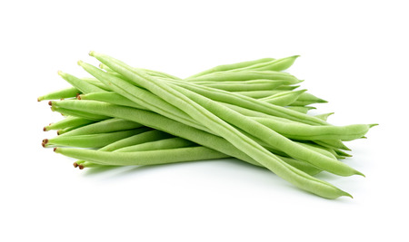 green beans on white background photo