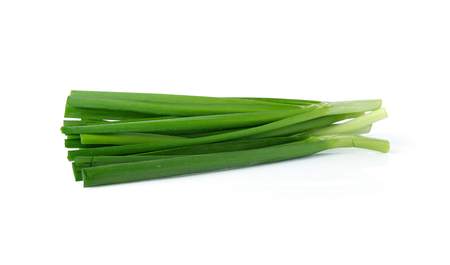vietnamse: garlic chives (leek) isolated on white background