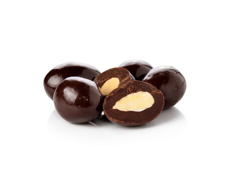 chocolate balls: chocolate balls isolated on a white background