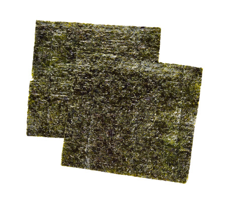 Nori sheets isolated on white background