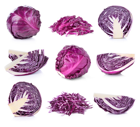 red cabbages isolated on white