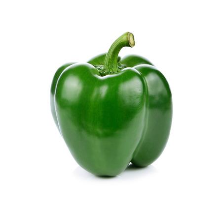 campanas: Pimiento verde sobre fondo blanco