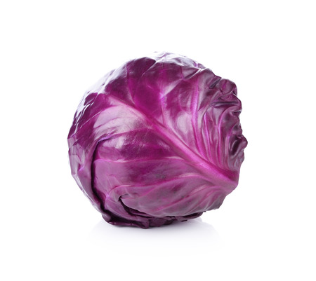 the cabbage: red cabbage isolated on white