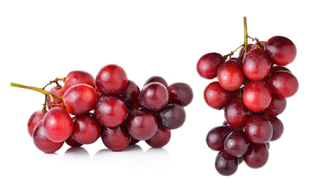 purple red grapes: red grapes isolated on white background.